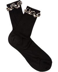 Raey Ry Embellished Ric Rac Silk Socks