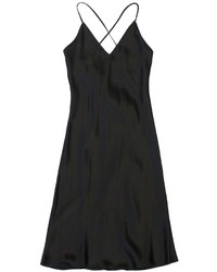 Lace back cami dress black medium 119423