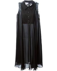 Pas Du Tout Sheer Swing Shirt Dress