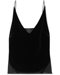 J Brand Lucy Velvet And Silk Tte Camisole