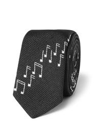 Saint Laurent 4cm Musical Note Silk Twill Tie
