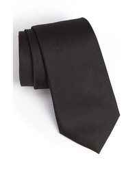 Calibrate Woven Silk Tie Black X Long