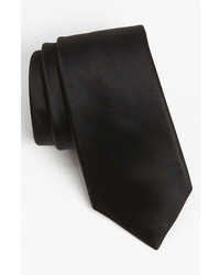David Donahue Woven Silk Tie Black Regular