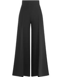 Valentino Wool Silk Wide Leg Pants