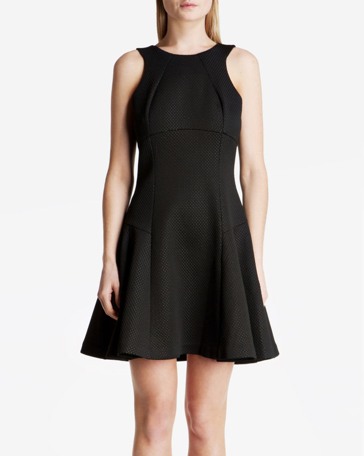 Ted Baker Cidia Textured Skater Dress Where To Buy How To Wear