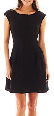 1811c4e451 ... jcpenney Como Black Como Black Sleeveless Crepe Skater Dress ...