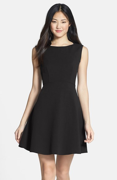21bdace77667 ... Black Skater Dresses French Connection Feather Ruth Fit Flare Dress ...