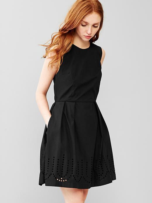 8b545f3fd1 ... Skater Dresses Gap Laser Cut Fit Flare Dress ...