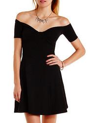 78078471d5b Women s Black Skater Dresses by Charlotte Russe