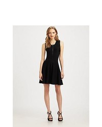 Parker Amanda Fit And Flare Dress Black