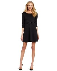 Star Vixen Ponte Skater Dress With Belt