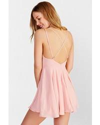 bb1380c3f9 ... Sparkle   Fade Strappy Chiffon Skater Dress