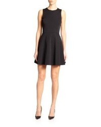 Theory Tillora Textured Fit  Flare Dress