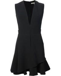 Victoria Beckham Layered Hem Skater Dress