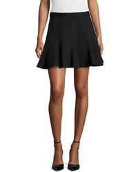Derek Lam 10 Crosby Ponte Godet Pleat Skirt Black