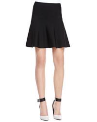 BCBGMAXAZRIA Ingrid A Line Stretch Knit Skirt Black