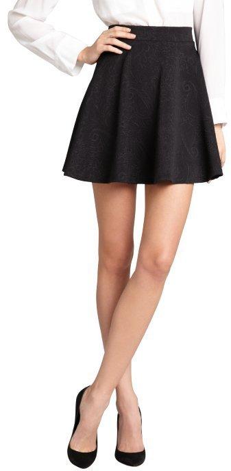 Romeo & Juliet Couture Black Jacquard Mini Skater Skirt