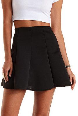 00767b77c8 Charlotte Russe Paneled Scuba Knit Skater Skirt, $17 | Charlotte ...