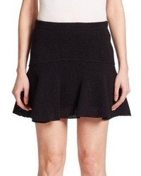 IRO Davina Pleated Mesh Mini Skirt