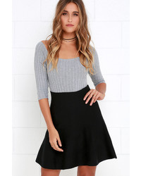 Depth Of Field Grey Skater Skirt