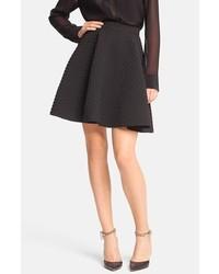 Faith Connexion Pleated Neoprene Skirt Black 8 Us 40 Fr