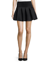 Lovers + Friends High Tide Box Pleated Scuba Skirt Black
