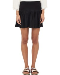 Etoile Isabel Marant Isabel Marant Toile Pleated Dropwaist City Flou Skirt Black