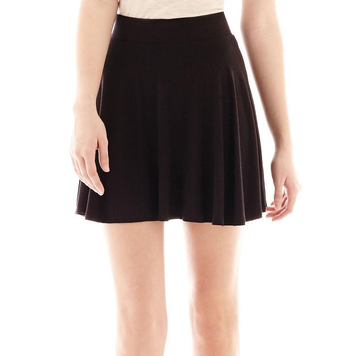 ... Black Skater Skirts jcpenney Decree Knit Skater Skirt f58fe31a1