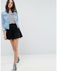Asos Jersey Mini Skater Skirt With Drawstring