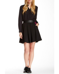 Yumi London Pleats Paneled Pocket Skirt