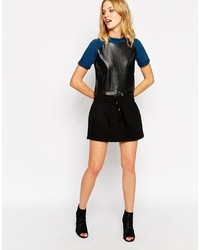 Noisy May Mini Denim Skater Skirt