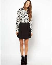 Monki Textured Skater Skirt