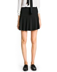 Mango Outlet Skater Crepe Skirt