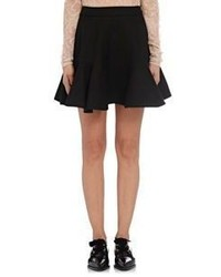 Lanvin Oxford Cloth Miniskirt Black Blue