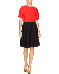 Prada Linea Rossa Pleated Flare Skirt
