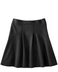 Second Skin, LLC Mossimo Ponte Fit Flare Skirt Ebony Xl