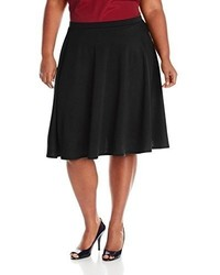 Star Vixen Plus Size Knee Length Full Skater Skirt