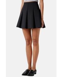 Topshop Pleated Scuba Skirt Black 10
