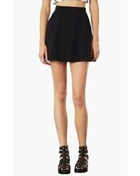 Topshop Pocket Skater Skirt Black 8