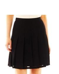 Worthington Pleated Skirt Black
