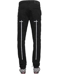 RtA 165cm Skinny Crosses Print Denim Jeans