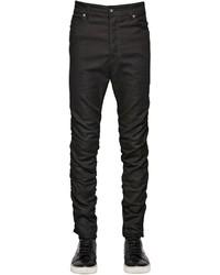 Diesel Black Gold 16cm Gathered Skinny Stretch Denim Jeans