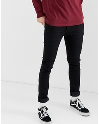 Levi's 519 Stylo Super Skinny Low Rise Fit Jeans In Black