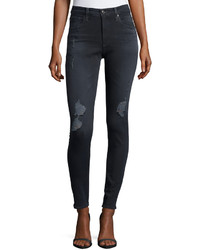 AG Jeans Ag The Farrah High Rise Skinny Jeans Black