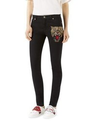 Gucci Angry Cat Skinny Jeans