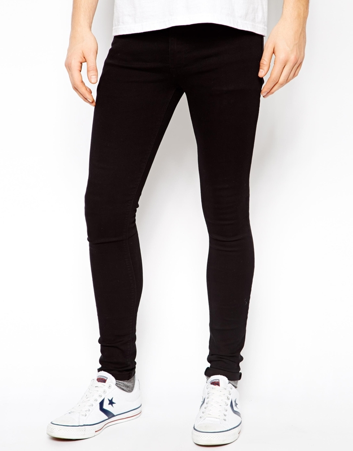 Asos Brand Extreme Super Skinny Jeans In Black | Where to buy ...
