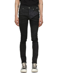 Rick Owens DRKSHDW Black Denim Satin New Tyrone Cut Jeans