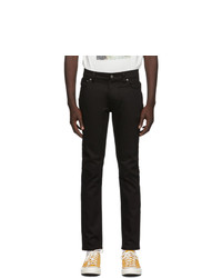 Nudie Jeans Black Dry Thin Finn Jeans