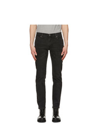 Levis Black Faded 511 Slim Flex Jeans