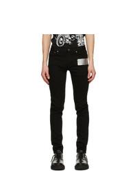 Givenchy Black Latex Band Skinny Jeans